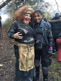 On Set - Zombie and Kelly Bellacci